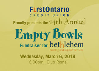 14th Annual Empty Bowls Fundraiser